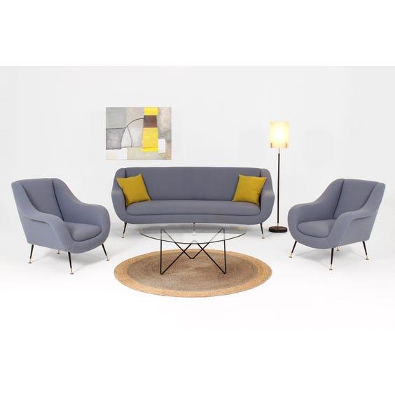 Midcentury Airforce blue sofa image