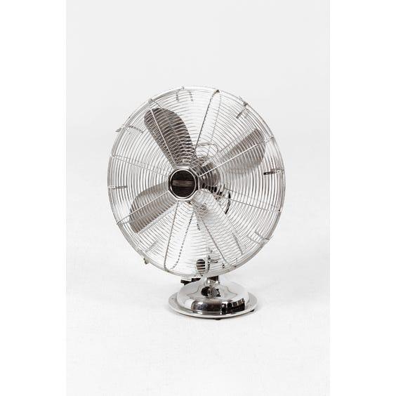 Vintage aluminium desk fan image