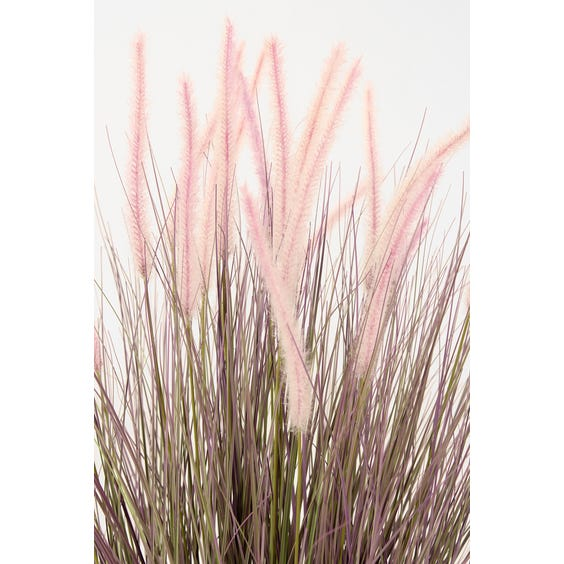 Artificial rush plant with pink flower image