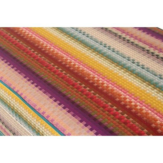 Geometric print silk ottoman image