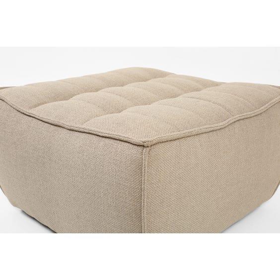 Modern warm grey footstool image