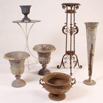 Example of metal garden accessories