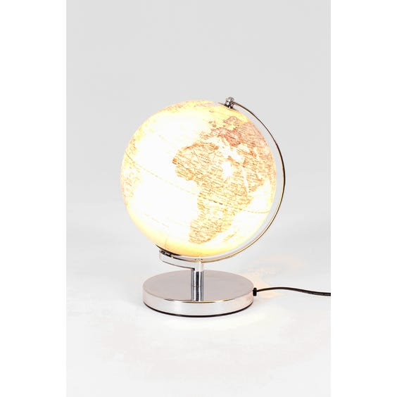 Modern light up silver globe image