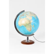 Large vintage light up globe