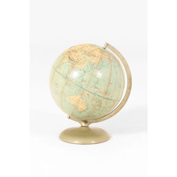 Vintage aqua Rand McNally globe image