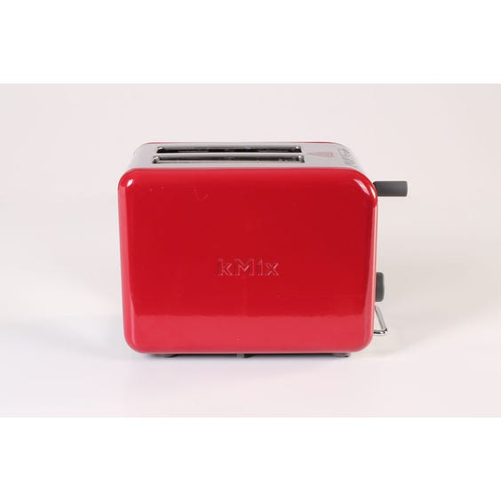 Modern red and chrome toaster image