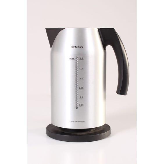 Modern brushed aluminium kettle image
