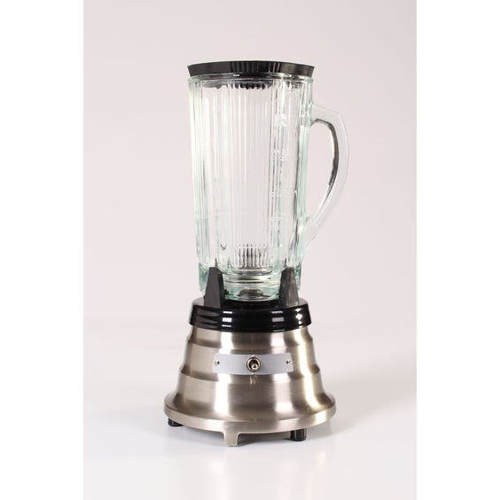Modern brushed nickel kitchen blender image