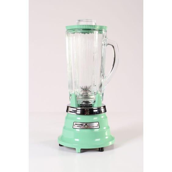 Retro mint green kitchen blender image
