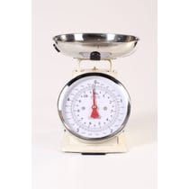 Retro cream metal kitchen scales