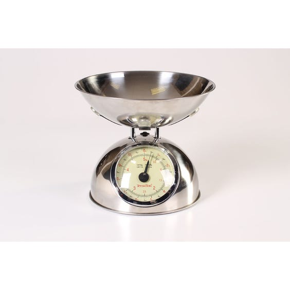 Chrome dome shape kitchen scales image