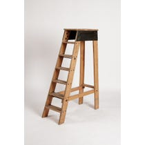 Wooden and metal library ladder