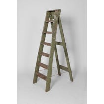 Green painted wooden step ladder