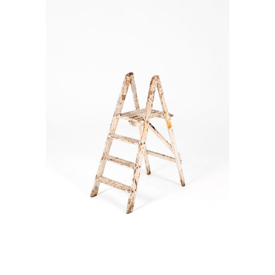 Low distressed grey step ladder image