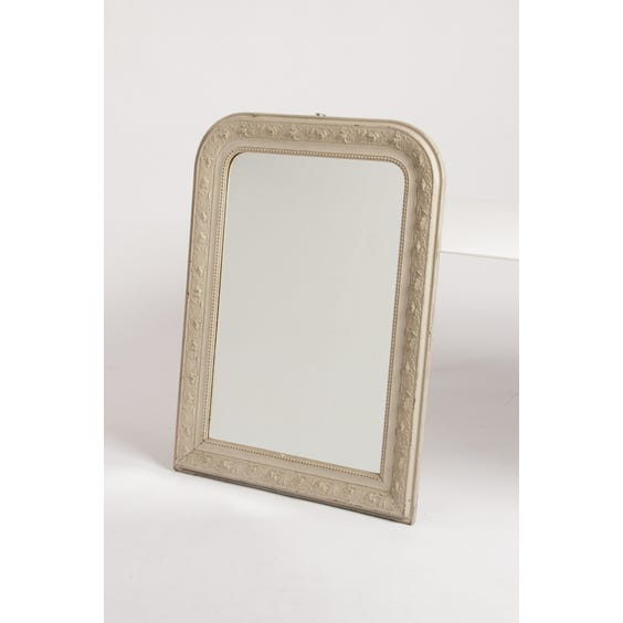Floral carved cream painted mirror image