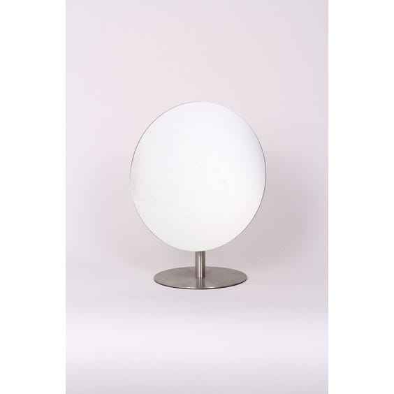 Circular aluminium dressing table mirror image