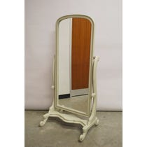 French grey wide cheval mirror