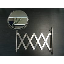 Circular chrome shaving mirror