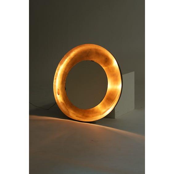 Circular gold metal wall light image