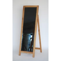 Simple oak framed cheval mirror