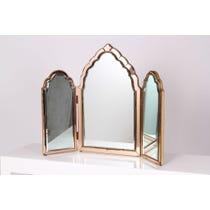 Vintage rose tinted edge mirror