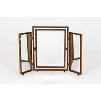 Vintage dull gilt 3 part mirror