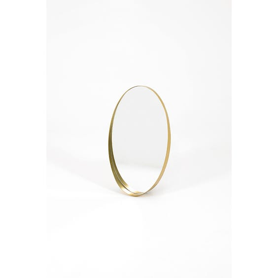 Modern brass oval wall mirror  image