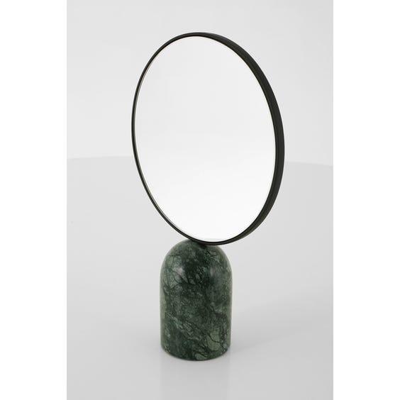 Black Art Deco style mirror  image
