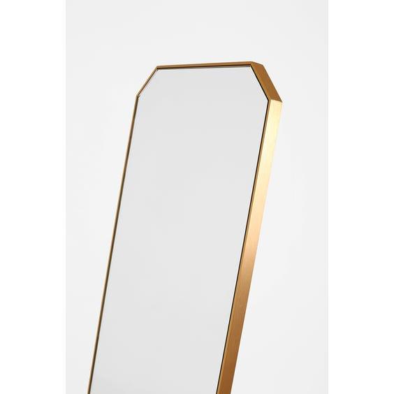 Brushed brass rectangular cheval mirror image