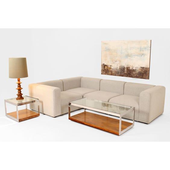 Mags grey wool modular L-shape sofa image