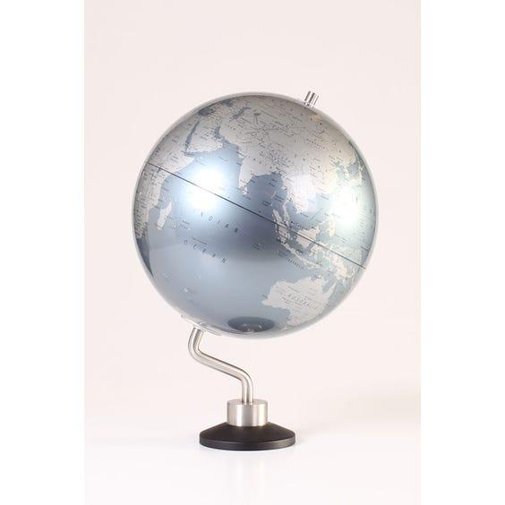 Modern grey silver office globe image