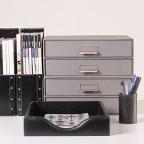 Example of black office accessories