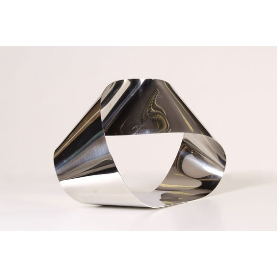 Chrome ribbon sculpture image