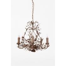 Ornate bronze crystal chandelier