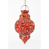 Red metal lantern pendant light