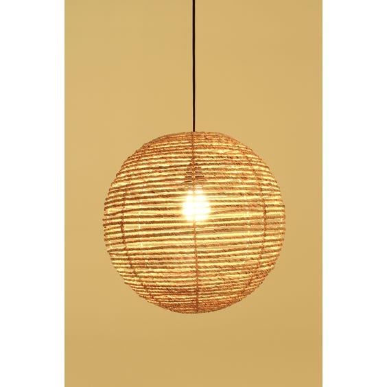Circular natural straw pendant shade image