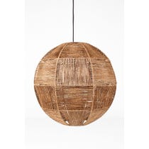 Large natural twine pendant shade