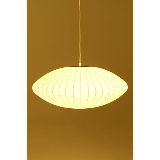 Nelson white saucer pendant lamp image