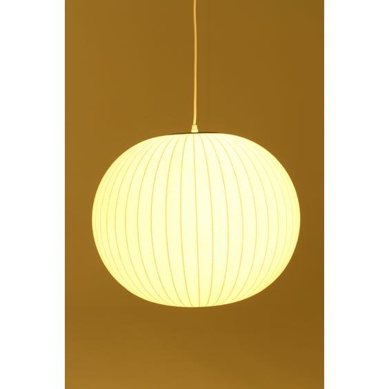 Nelson white ball pendant lamp image
