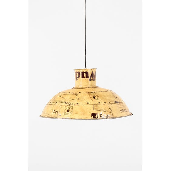 Recycled yellow metal pendant lamp image