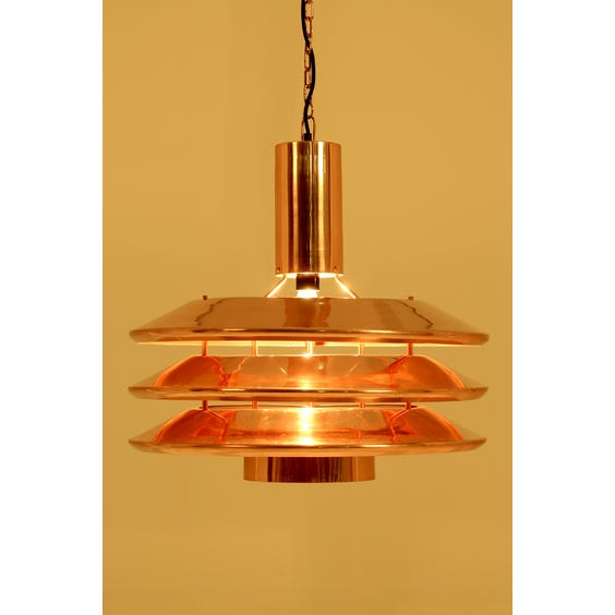 Large copper industrial pendant lamp image