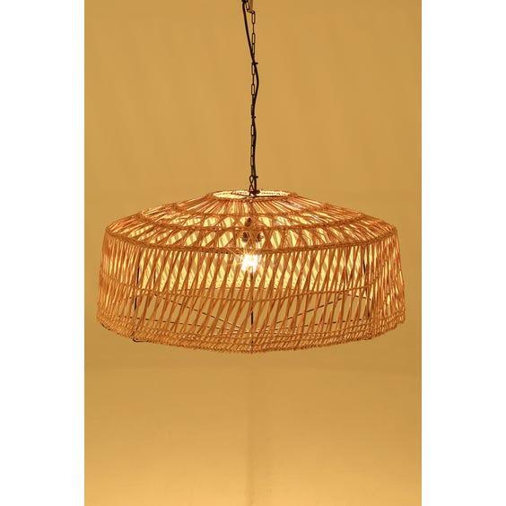 Large wicker pendant lamp image