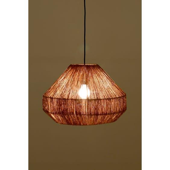 Raffia string pendant light image