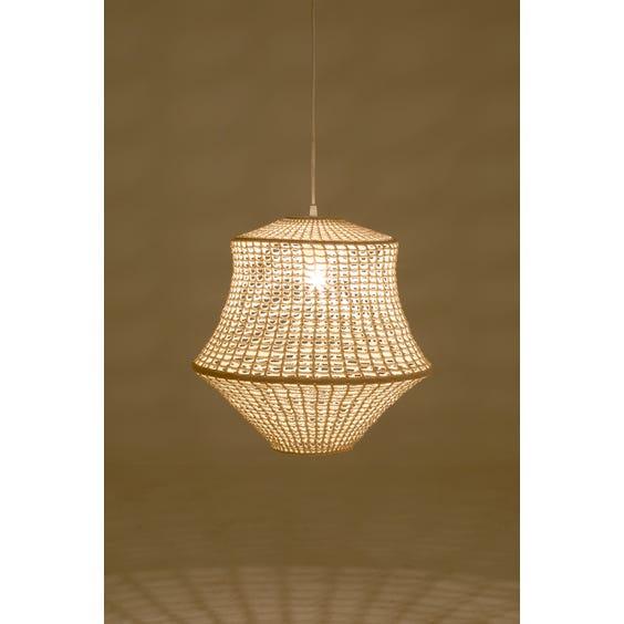 Modern crochet pendant lamp image