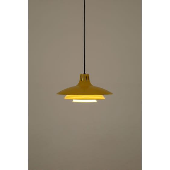Modern Scandinavian yellow pendant lamp  image