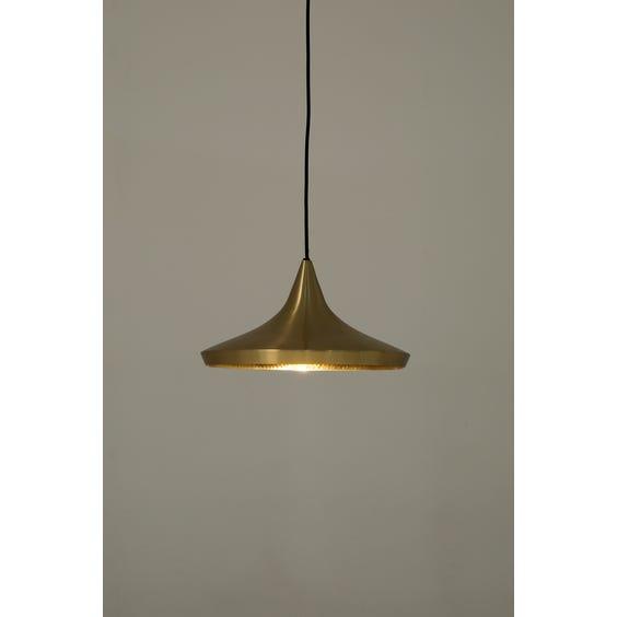 Modern brass flared Tom Dixon pendant lamp  image