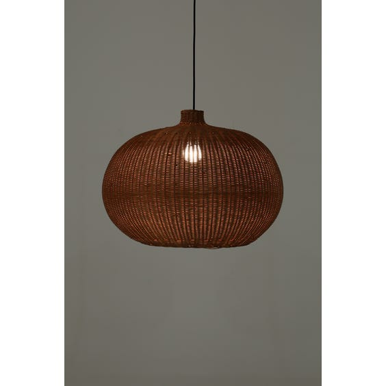 Modern natural woven rattan pendant lamp image