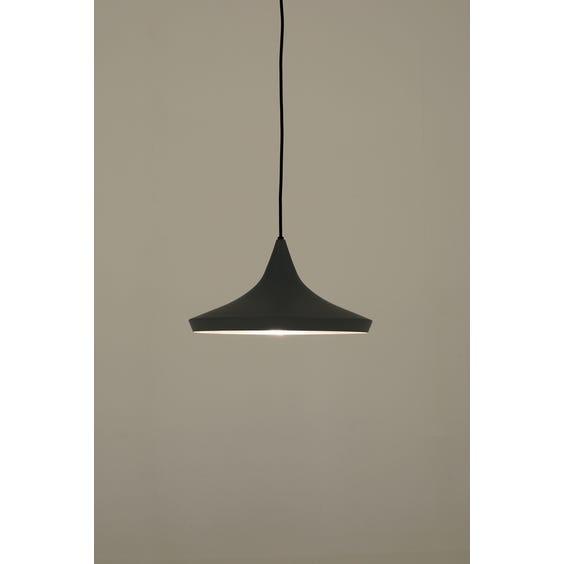Modern matt grey flared Tom Dixon pendant lamp image