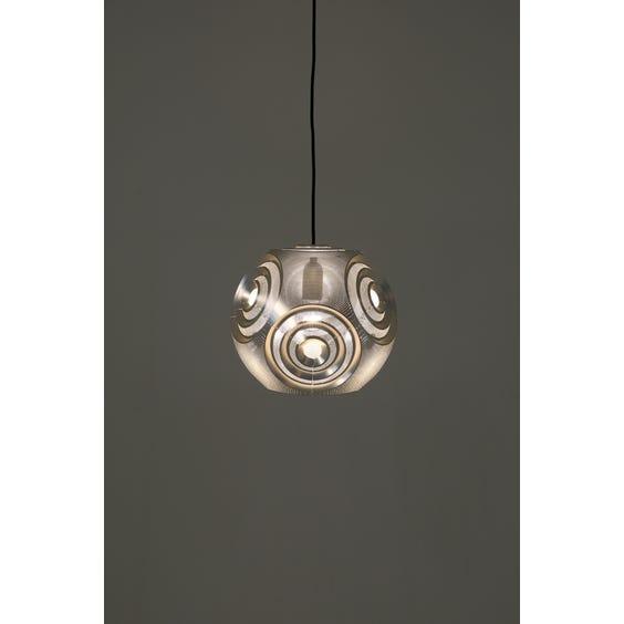 Modern silver spherical Tom Dixon pendant lamp  image