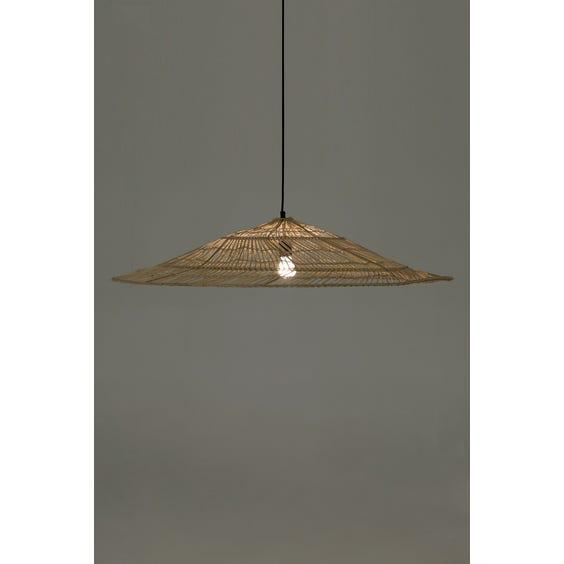 Large woven wicker pendant lamp image